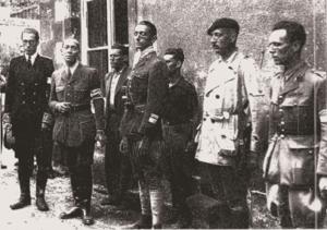 1944 Marc et ses chefs de maquis