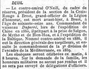 Extrait Le Figaro / 8 juillet 1900